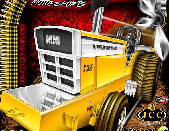 Custom Pulling Tractor T Shirts : Wicked grafixx custom drag racing t shirts crew