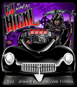 NEW!! EJ Hickl 41 Willys Outlaw Pro Modified Drag Racing T Shirts
