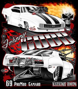 NEW !! Johnny Cobb Supercharged Pro Modified 69 Camaro Drag Racing T Shirts