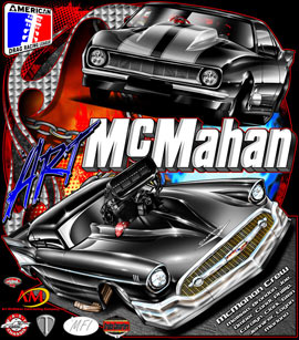 Art Mcmahan 57 Chevy Supercharged Pro Mod Camaro Inculsion Drag Racing T Shirts