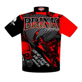 NEW!! Brink Airbrush Designs And Custom Paint Crew Shirts Back View