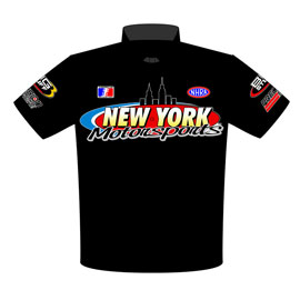 Dave Hance 57 Chevy Pro Mod Drag Racing Crew Shirts Front View