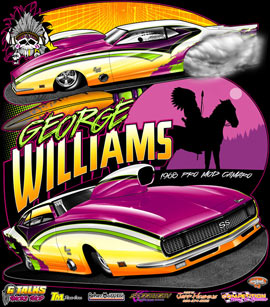 George Williams 1968 Camaro Nitrous Outlaw Pro Mod Drag Racing T Shirts