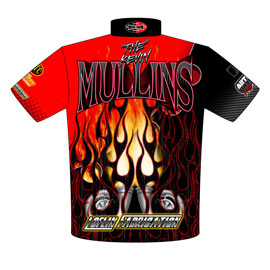 NEW!! Kevin Mullins Outlaw Drag Radial Racing Crew / Team Shirts Back View
