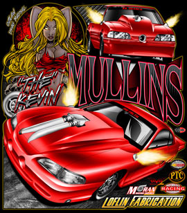 NEW!! Kevin Mullins Outlaw Drag Radial Racing T Shirts