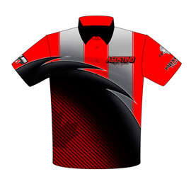 NEW!! Nick Agostino Outlaw 10.5 Camaro Drag Racing Crew Shirts Front View