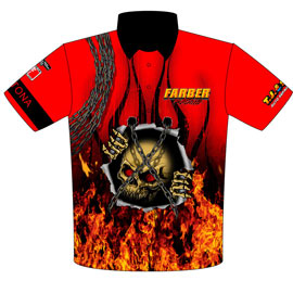 Pete Farber ADRL, Outlaw, NHRA Hemi Daytona Pro Mod Crew Shirts Front View