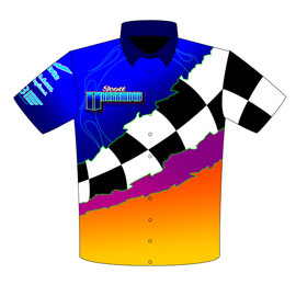 Scott Underwood Big Tire Outlaw Camaro Crew Shirts Front View