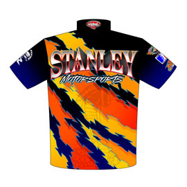 NEW!! Stanley Motorsports Racing Crew Shirts Back View