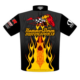 NEW!! Danny Lowry Pro Modified Turbocharged Mustang Crew Shirts Back View