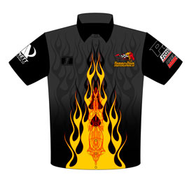 NEW!! Danny Lowry Pro Modified Turbocharged Mustang Crew Shirts Front View