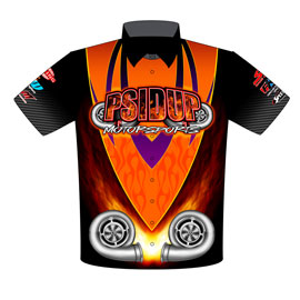 NEW!! PSIDUP Motorsports Australian Drag Radial Drag Racing Team / Crew Shirts Front View