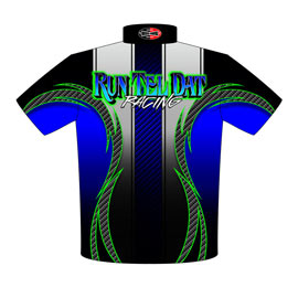 NEW!! Lamonte Williams Run Tel Dat Racing Leaf Spring Drag Racing Crew Shirts Back View