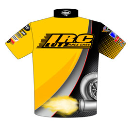 NEW!! Jeff Lutz Turbocharged Pro Modified Camaro Drag Racing Crew Shirts Back View