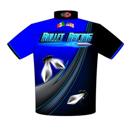 NEW!! Mike Cantu X275 Nitrous Drag Radial Mustang Drag Racing Crew Shirts Back View