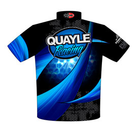 NEW!! Quayle Racing Top Dragster Drag Racing Team / Crew Shirts Back View