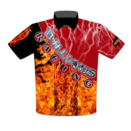 NEW!! Williams Racing Dragster Team Crew Shirts Front View
