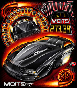 NEW!! Paul Mouhayet Moits Racing Worlds Fastest Pro Mod Drag Racing T Shirts