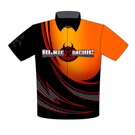 NEW!! Rick Blaisdale Supercharged Pro Boost Corvette Pro Modified Drag Racing Crew Shirts Front View