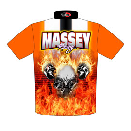 NEW!! Massey Racing Pro Mod Cavalier Drag Racing Team / Crew Shirts Back View