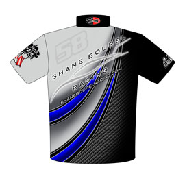 NEW!! Shane Bourel SCCBC World Champion Racing Team Crew Shirts Back View