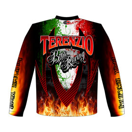 NEW!! Terenzio Brothers Core Bore BMX Racing Team / Crew Shirts Back View