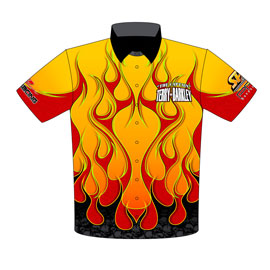 NEW!! Terry Barkley Camaro Drag Racing Team / Crew Shirts Front View