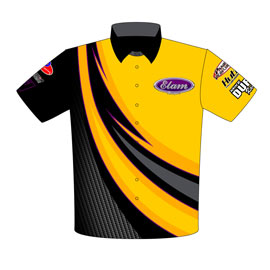 NEW!! Elam Motorsprts 275 Drag Radial Mustang Crew Shirts Front View