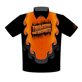 NEW!! AJ Thomson 63 Corvette Top Sportsman Drag Racing Crew Shirts Front View