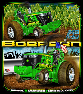 NEW!! Boerson Pro Stock 10,000lb Tractor Pulling T Shirts