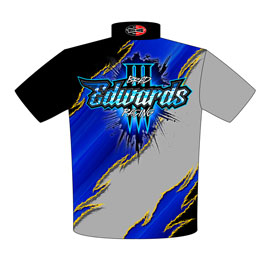NEW!! Brad Edwards Three Second Drag Radial Drag Racing Team / Crew Shirts Back View