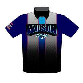 NEW!! Wilson Racing X275 Drag Radial Chevelle Drag Racing Crew Shirts Front View