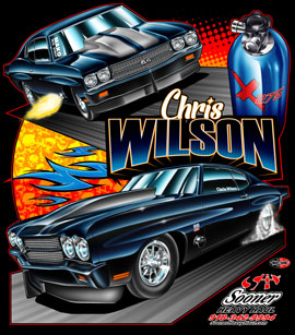 NEW!! Wilson Racing X275 Drag Radial Chevelle Drag Racing T Shirts
