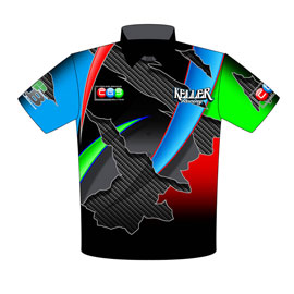 NEW!! Keller Racing Top Dragster Drag Racing Crew Shirts Front View