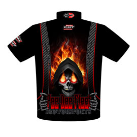 NEW!! Tylor Miller 69 Chevelle Pro Modified Drag Racing Crew Shirts Back View