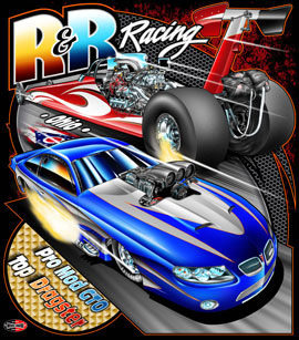 NEW!! R & R Pro Modified Top Dragster Team Drag Racing T Shirts
