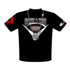 NEW!! Stanley & Weiss - John Stanley Cadillac CTS-V PDRA Pro Extreme Pro Modified Big Pimpin Version Drag Racing Crew Shirts Front View