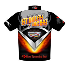 NEW!! Stanley & Weiss - John Stanley Cadillac CTS-V PDRA Pro Extreme Pro Modified Drag Racing Crew Shirts Back View