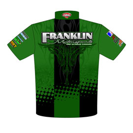 NEW!! Tommy Franklin ADRL Pro Modified Drag Racing Crew Shirts Back View
