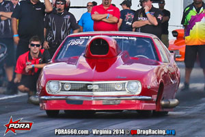 Ed Burnley At PDRA wearing Wicked Grafixx Custom Drag Racing Crew Shirts in Pro Nitrous
