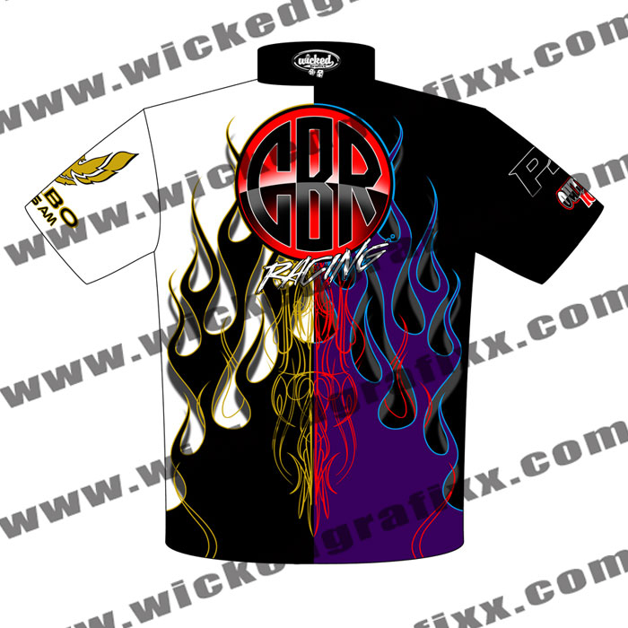 Custom race shirts wear racing embroidery screen printing