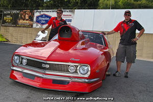 Ed Burnley Wicked Grafixx Team Racing Shirts Spotted At Super Chevy Maple Grove Pro Mod Crash