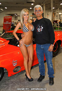 Jessica Barton Car Show Supermodel HOT pose with Team Courtier Racing and Wicked Grafixx Apparel