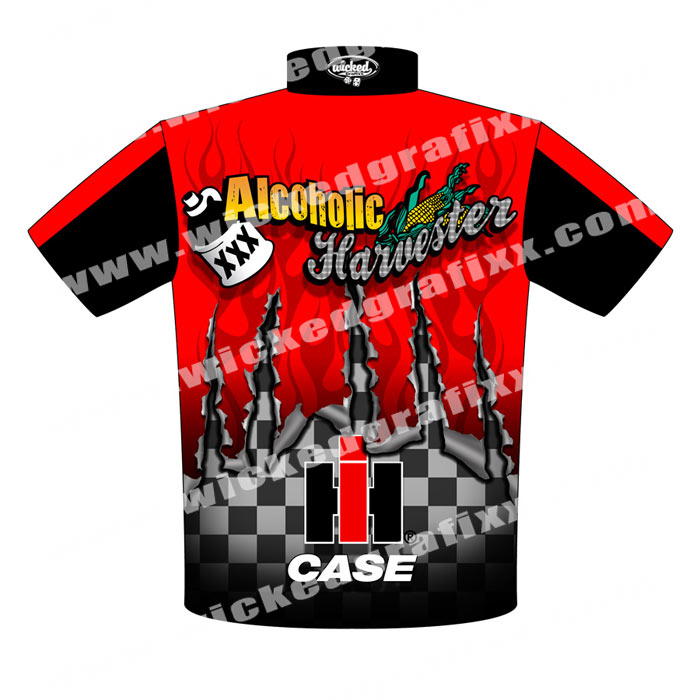 Custom Pulling Tractor T Shirts : New r metzger alcoholic harvester pulling tractor racing