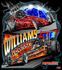NEW!! Williams Racing Dragster Combination Racing T Shirts