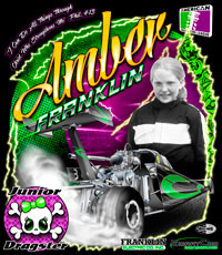 NEW!! Amber Franklin Jr Dragster Drag Racing T Shirts
