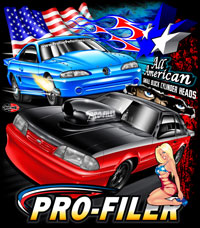 NEW!! Profiler All American Custom Business Racing T Shirts