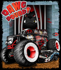 NEW!! Dawg Pound Monster Truck Custom Design T Shirts
