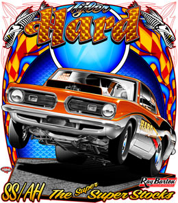 Hard Attack Racing | Brian Hard Super Stock Hemi Cuda, Top Sportsman Camaro, Camaro Pro Mod Drag Racing Shirts