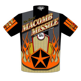 Michael Ricketts | Macomb Missile Racing Nostalgia Pro Stock Drag Racing Crew Shirts